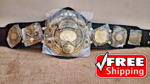 TRIPLE CROWN Brass Triple Stacked Championship Belt - Zees Belts