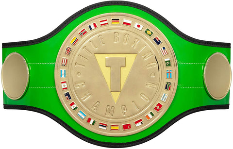 TITLE BOXING GREEN BELT Championship Belt - Zees Belts