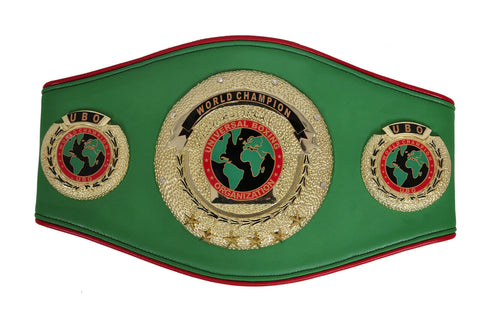 UBO Title Boxing Championship Belt - Zees Belts