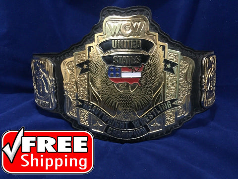 WCW US HEAVYWEIGHT 24K GOLD Zinc Championship Belt - Zees Belts