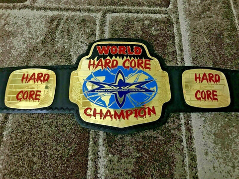 WCW WORLD HARDCORE Brass Championship Belt - Zees Belts