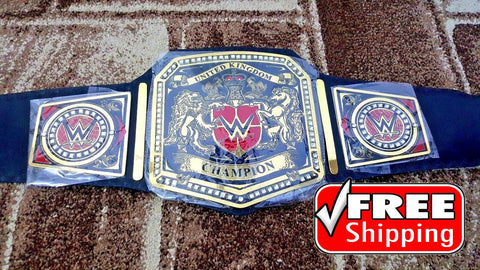 WWE UNITED KINGDOM Brass Championship Belt - Zees Belts