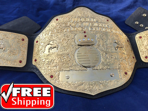 WWE BIG GOLD DUAL PLATED 24K GOLD Zinc Championship Belt - Zees Belts