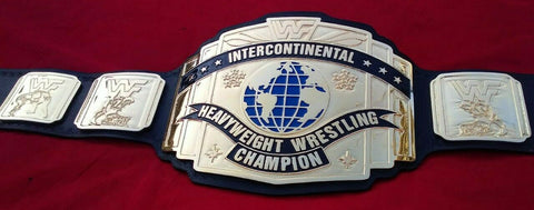 WWF INTERCONTINENTAL 24K GOLD Zinc Championship Belt - Zees Belts