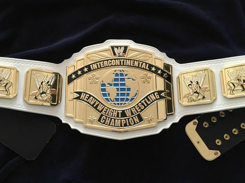 WWF INTERCONTINENTAL WHITE Zinc Championship Belt - Zees Belts