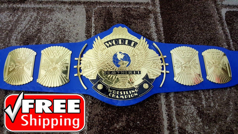 WWF ULTIMATE WARRIOR WINGED EAGLE Brass Championship Belt - Zees Belts