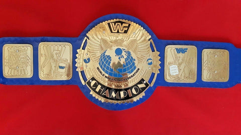 WWF BLUE BIG EAGLE Brass Championship Belt - Zees Belts