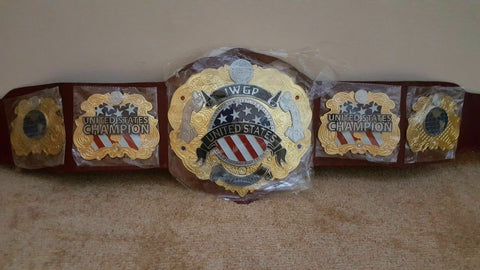 IWGP UNITED STATES Double Stacked Championship Belt - Zees Belts