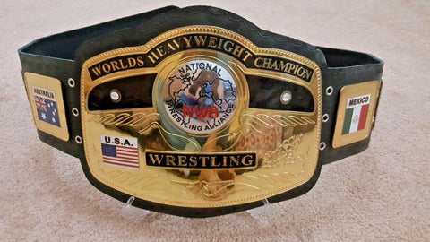 NWA DOMED GLOBE HEAVYWEIGHT Wrestling Championship Belt - Zees Belts