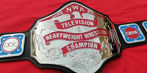 NWA TELEVISION HEAVYWEIGHT 24K NICKLE Zinc Championship Belt - Zees Belts