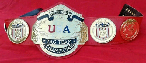 NWA USA TAG TEAM 24K GOLD Zinc Championship Belt - Zees Belts