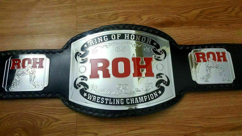 ROH Brass Championship Belt - Zees Belts