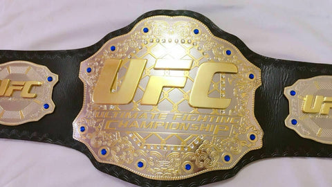 UFC Brass Double Stacked Championship Belt - Zees Belts