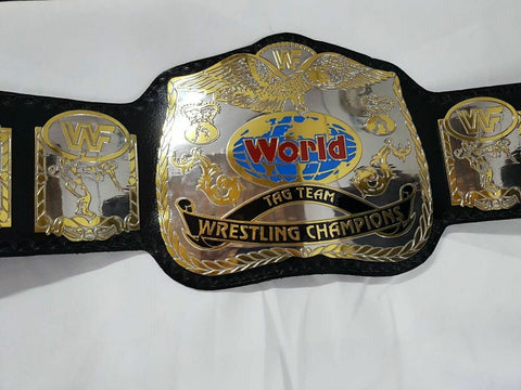 WWF WORLD TAG TEAM DUAL PLATED Brass Championship Belt - Zees Belts