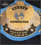 WWF WINGED EAGLE BLUE Brass Championship Belt - Zees Belts