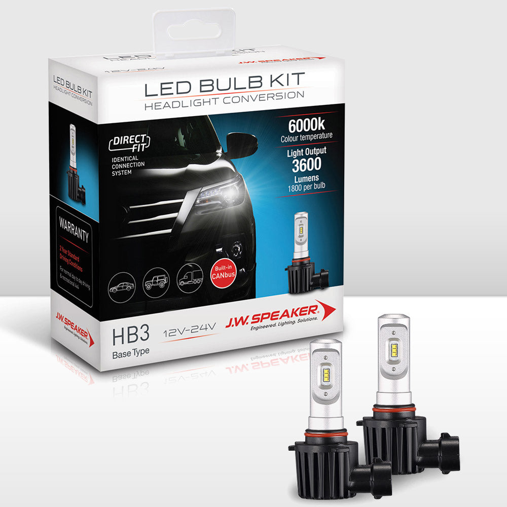 JW Speaker LED Headlight Bulb Kit-HB3