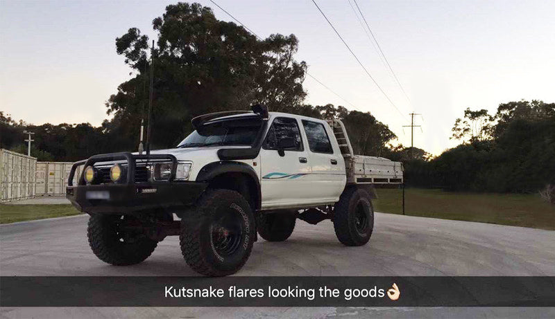Kut Snake Flares for Toyota Hilux 167 Series 1997-2004 ABS