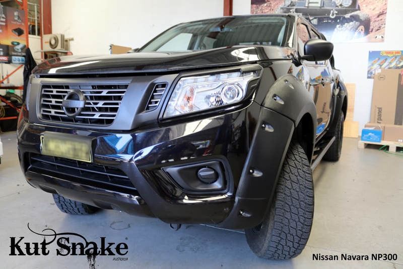 Kut Snake Flares for Nissan Navara NP300 ABS Standard 85mm ABS