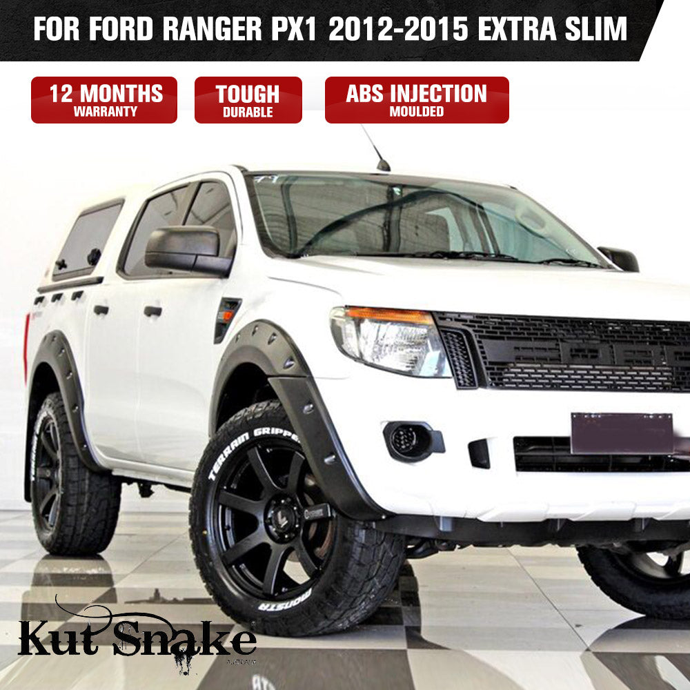 Kut Snake Flares for Ford Ranger PX1 2012-2015 Extra Slim ABS