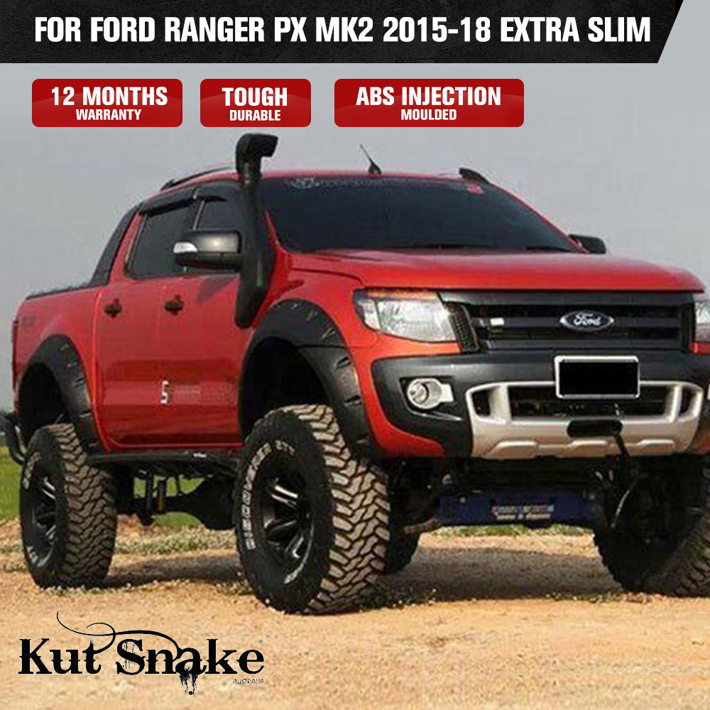 Kut Snake Flares for Ford Ranger PX MK2 2015-18 Extra Slim ABS