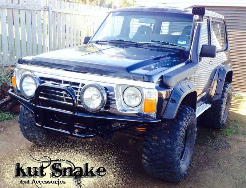 Kut Snake Flares for Nissan Patrol GQ 1990-1997 ABS