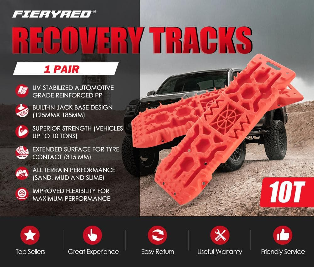 FIERYRED Recovery Tracks Sand Track 10T Red