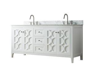 72 Inch Wide Double Sink 1906 - Elaine White