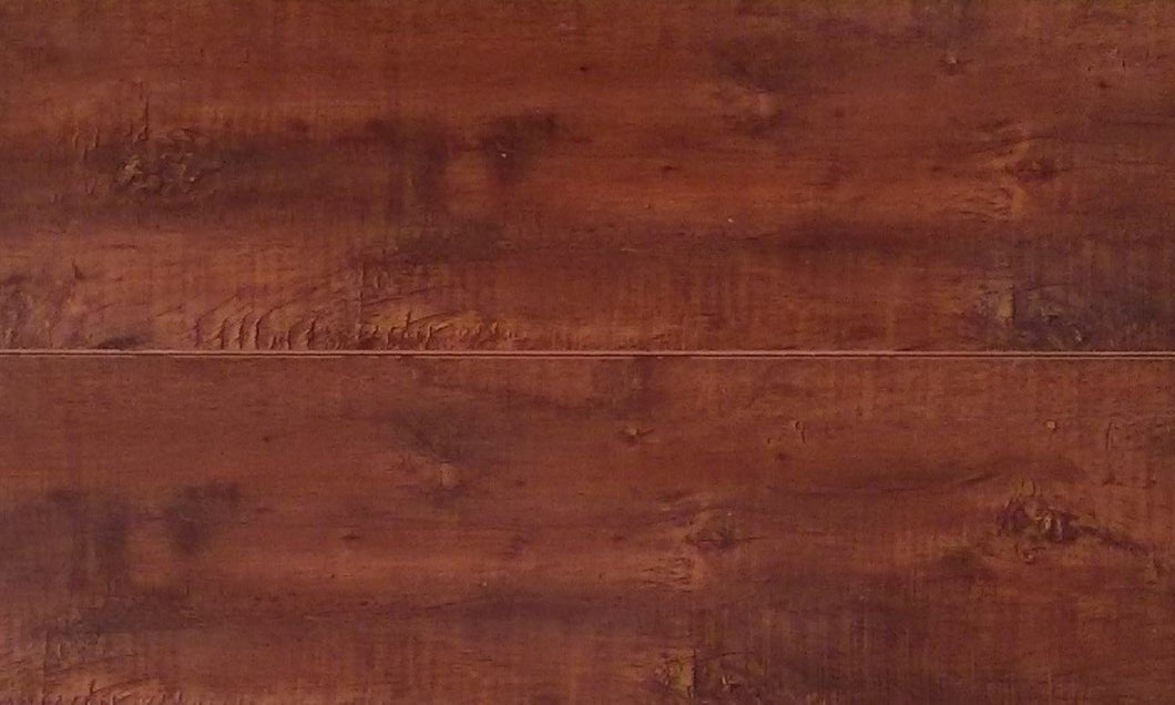 12mm Handscraped Chestnut Laminate Wood Flooring