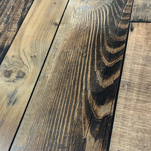 12mm Laminate Wood Barnwood Brown- Pad Attached1