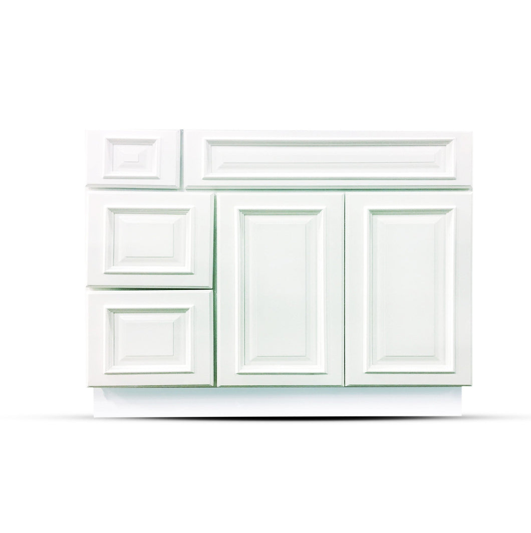 42 Heritage White Drawers Left