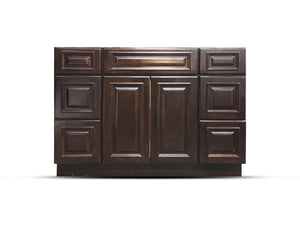 48 Inch Bathroom Cabinet Vanity Heritage Espresso Right Drawers