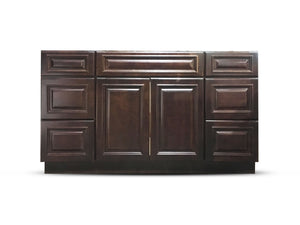 60 Inch Bathroom Cabinet Vanity Heritage Espresso Left/Right Drawers