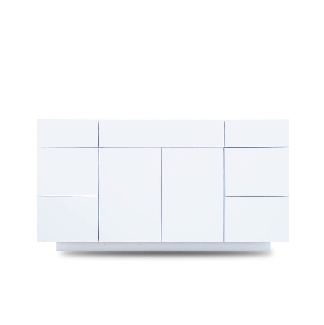 60 Inch Bathroom Cabinet Vanity Blanco Polished LEFT/Right  Drawers