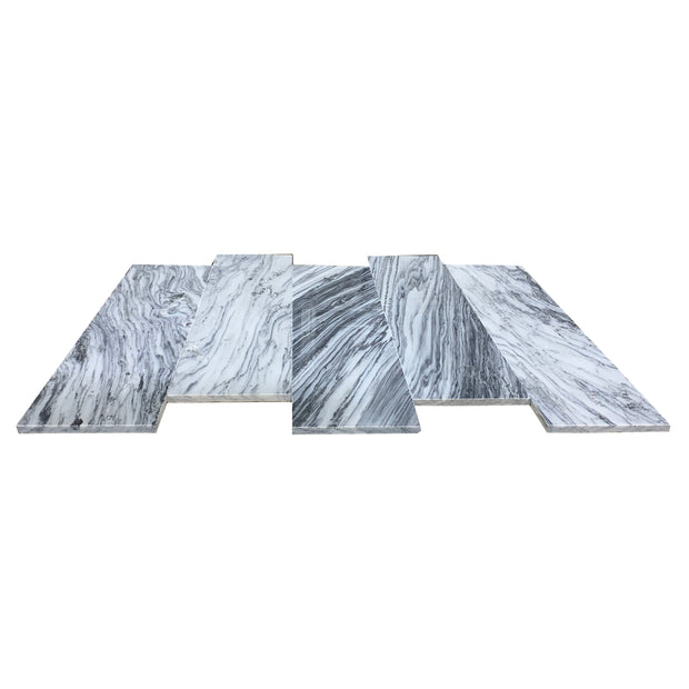 Load image into Gallery viewer, 6 x 24 Spoondrift Grey Marble 4565