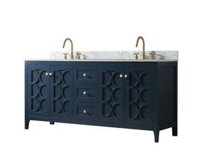 72 Inch Wide Double Sink 1906 - Elaine Blue