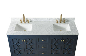 60 Inch Wide Double Sink 1906 - Elaine Blue