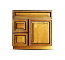 Load image into Gallery viewer, 30 Inch Bathroom Cabinet Vanity Amber Right Drawers