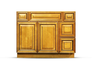 42 Inch Bathroom Cabinet Vanity Amber Right Drawers