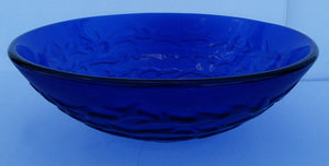 Round Waves Tempered Glass Vessel (Blue)