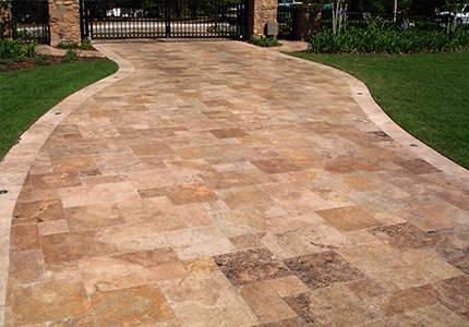 French Pattern Travertine Paver Country Classic