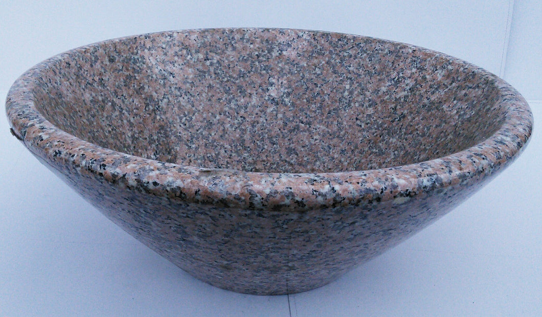 Dark Beige/ Grey Cone Shaped Granite Vessel Sink