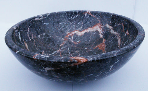 Dark Grey/ Pink Granite Round Vessel Sink