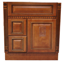 "Load image into Gallery viewer, 32.5"" High - Old Height Vanity - VA4-Fluted Heritage Caramel-V3021DH Left"
