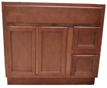 Load image into Gallery viewer, 36 Inch Bathroom Cabinet Vanity Flat Panel Ginger Right Drawers