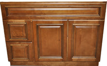 Load image into Gallery viewer, 42 Inch Bathroom  Vanity Heritage Caramel Left Drawers