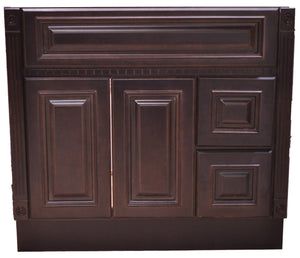 42 Inch Bathroom Cabinet Vanity Heritage Espresso Right Drawers