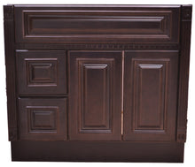 Load image into Gallery viewer, 36 Inch Bathroom Cabinet Vanity Heritage Espresso Left Drawers