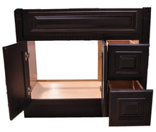 Load image into Gallery viewer, 36 Inch Bathroom Cabinet Vanity Heritage Espresso Right Drawers