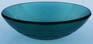 "Round Tempered Artistic Glass Vessel Sink - ""Moderna"" (Green)"