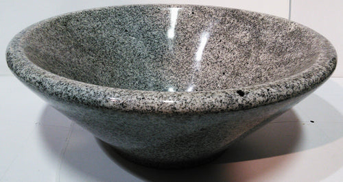 Grey and Black Speckled Cone Shaped Granite Vessel Sink